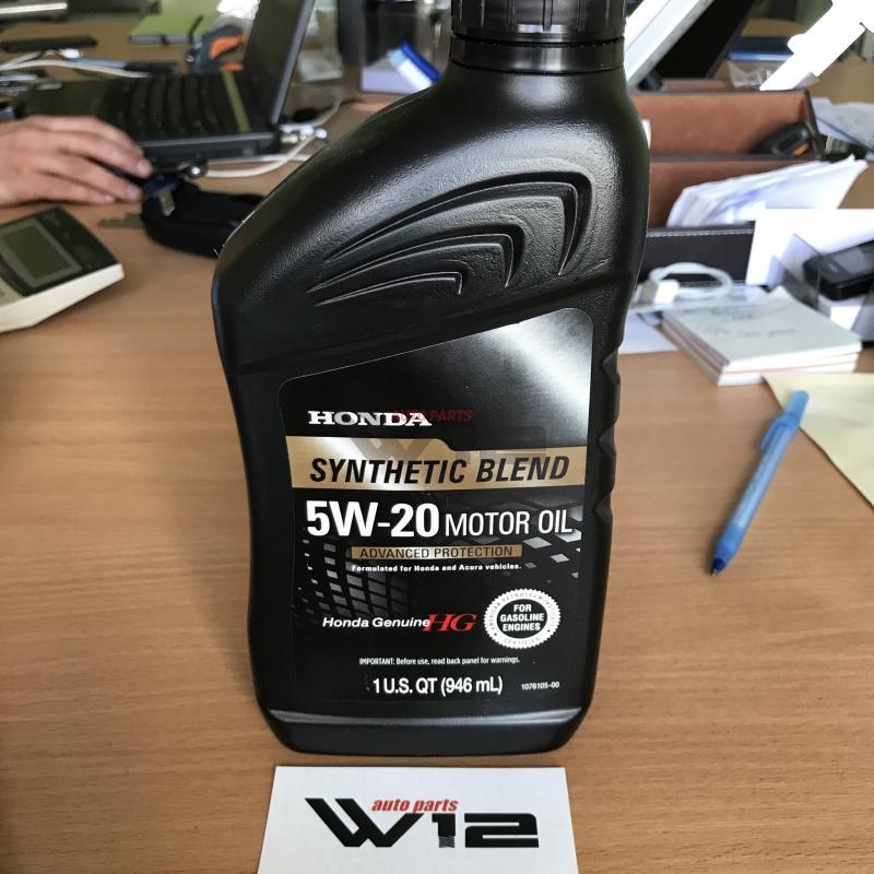 Масло моторное полусинтетическое Honda \Synthetic Blend 5W-20\, 1л 087989032 honda