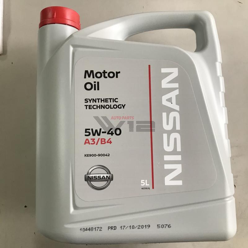 Масло моторное синтетическое Nissan \Motor Oil 5W-40\, 5л. ke90090042 nissan
