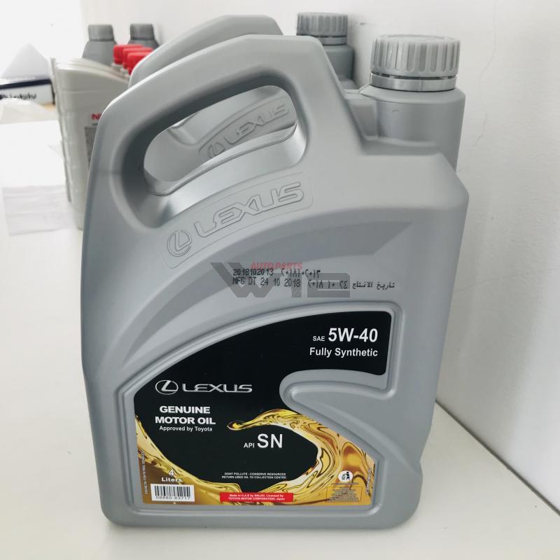 Масло моторное синтетическое Lexus \5W-40\, 4л 0888083717 toyota