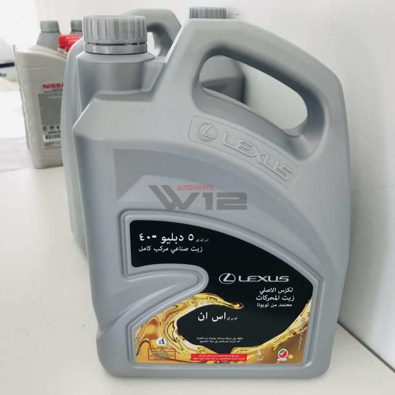 Масло моторное синтетическое Lexus 5W-40, 4л0888083717 toyota